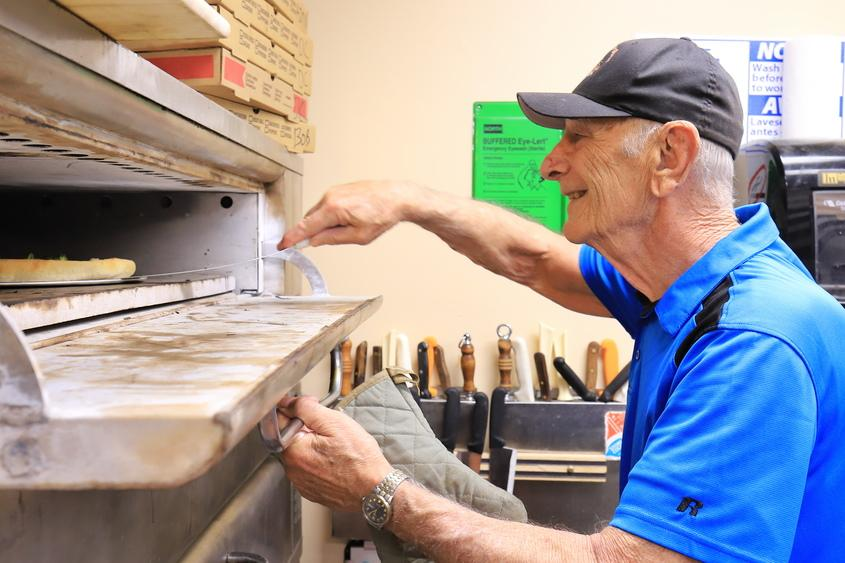 Retired Pizza Maker Volunteers at City Mission